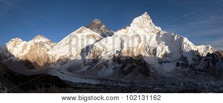 Evening Panoramic View Of Mount Everest