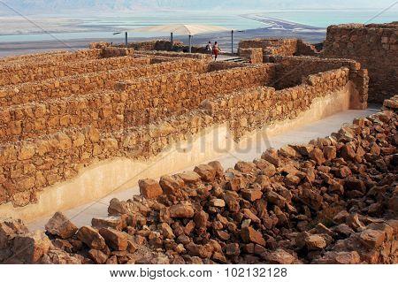 The Storerooms Complex in Masada Fortress Israel.