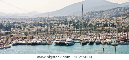 Harbor With Luxury Boats