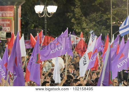 Athens, Greece 18 September 2015. Prime minister of Greece Alexis Tsipras.