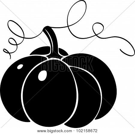 Pumpkin. Silhouette