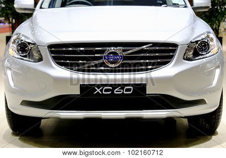 Headlights And Bonnet Of Volvo Series Xc60