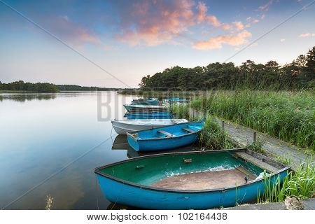 Rowing Boats On Filby Broad