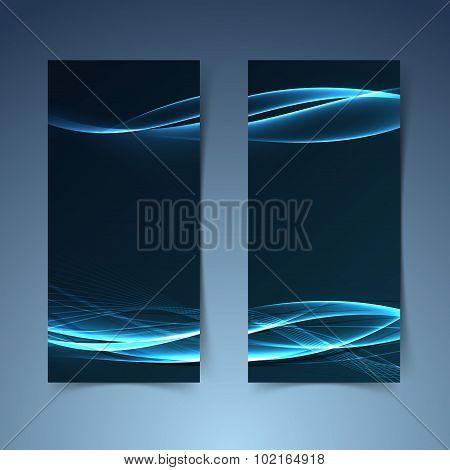 Bright Blue Fusion Futuristic Line Banner