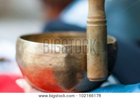 Traditional asian pottery-nepalese singing bowls. Also called Himalayan Singing bowls-rin gongs-suzu