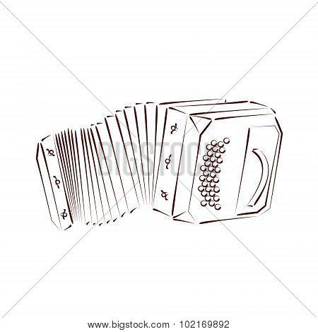 Sketched bandoneon.