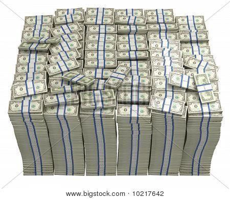 Treasury. Large Bundle Of Us Dollars