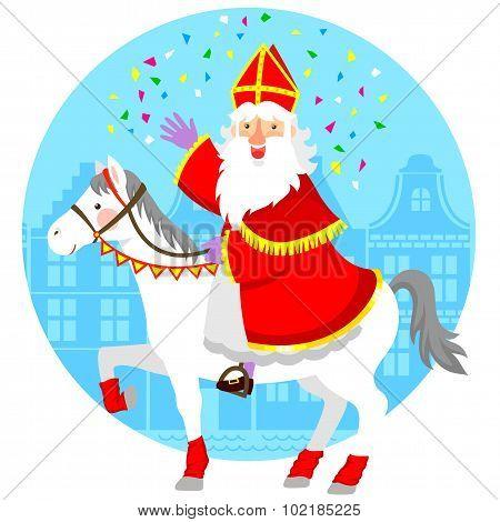 Sinterklaas on his horse
