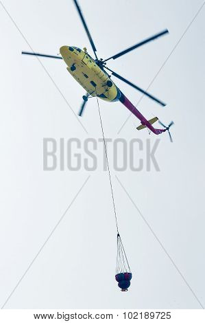 Fire helicopter MI-8
