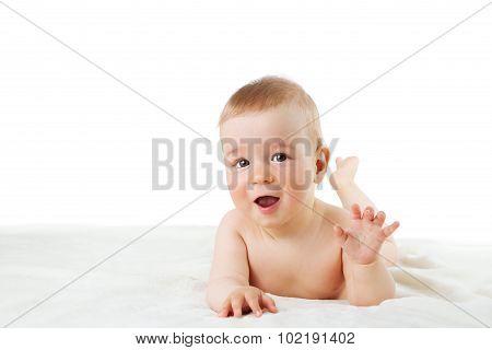 Baby isolated on white background