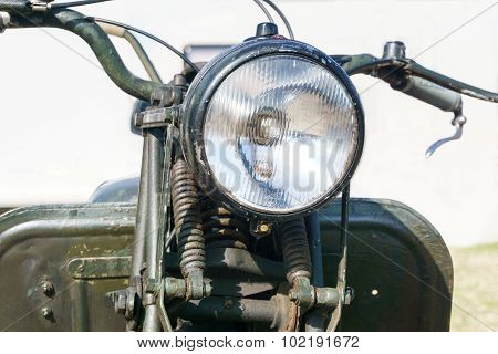 Details Of An Old Motorcycle