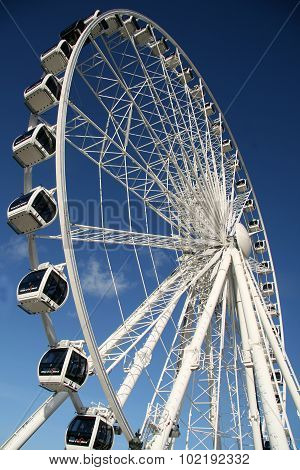 A Ferris Wheel In Paris, France