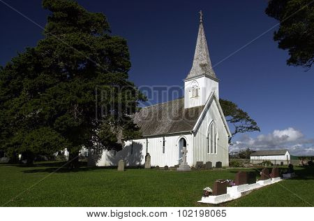 Photo of Waimati North Church Northland New Zealand.