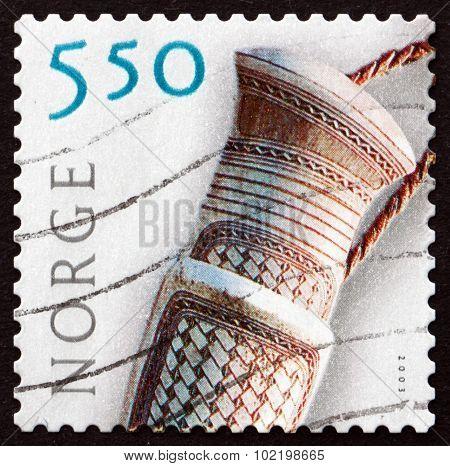 Postage Stamp Norway 2003 Doudji Knife Handle