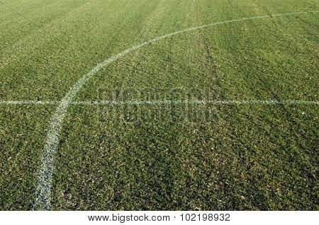 Close up photo of a Soccer Football Field