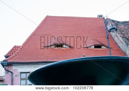 eye roofs in Grand Square in Sibiu