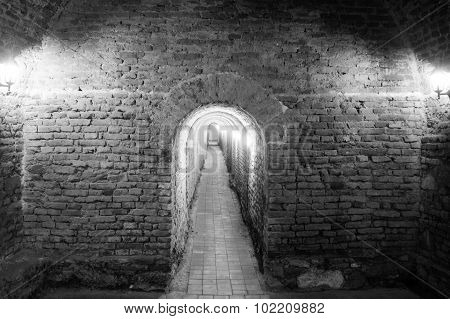 nderground passage in the fortress Alba Carolina