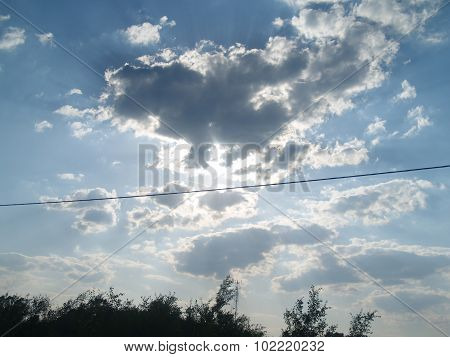 Cloudy Sky Over Trees