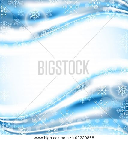 Cute winter wallpaper with snowflakes