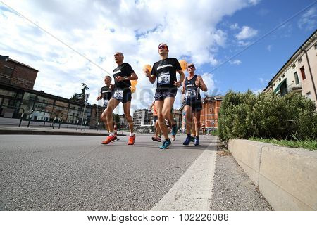 Runners During The Race Called