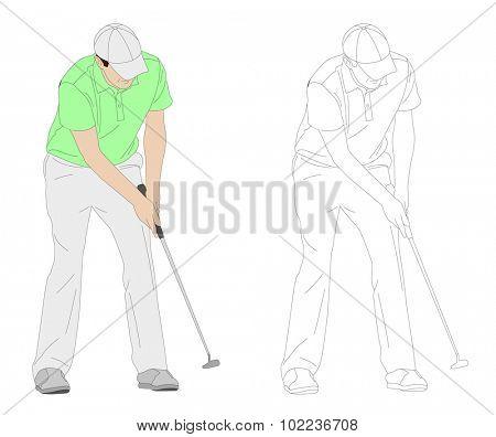 golfer illustration 3