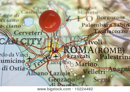 Rome on a map