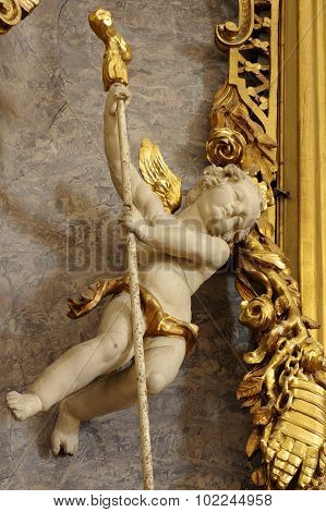 Cherub baroque art sculpture