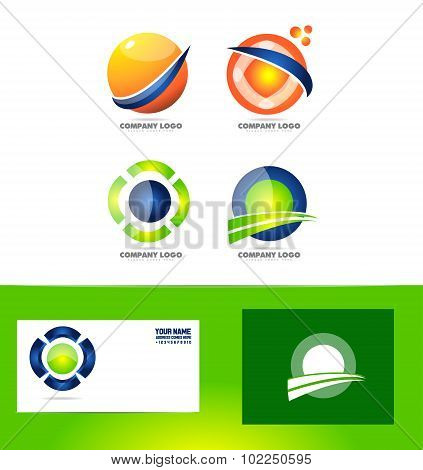 Abstract Sphere Circle Logo