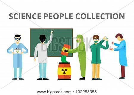 Science laboratory radiation biology vector people