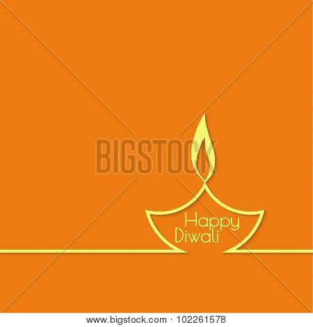 Abstract background with oil lamp