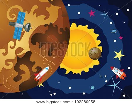 Venus In The Space