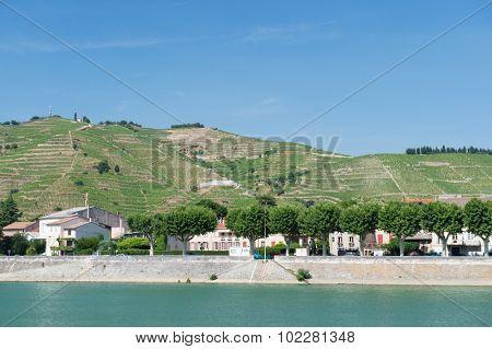 Tournon a riverside village sur Rhone in France