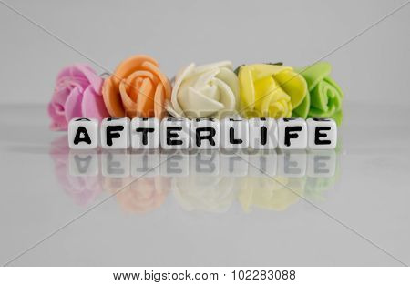 Afterlife Text Message With Beads And Flowers