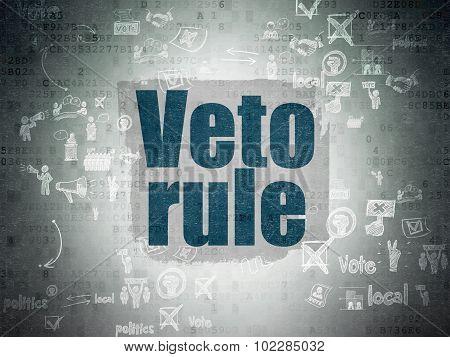 Political concept: Veto Rule on Digital Paper background