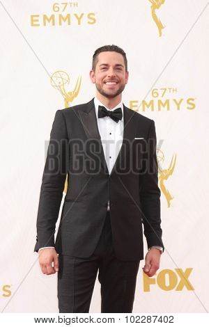 LOS ANGELES - SEP 20:  Zachary Levi at the Primetime Emmy Awards Arrivals at the Microsoft Theater on September 20, 2015 in Los Angeles, CA