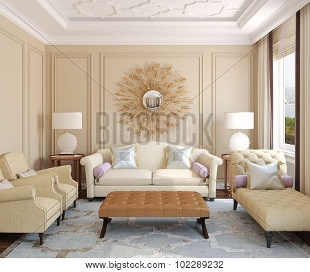 Living-room Interior.