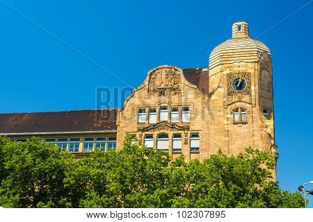 Kurfurst Friedrich School Building In Mannheim - Germany