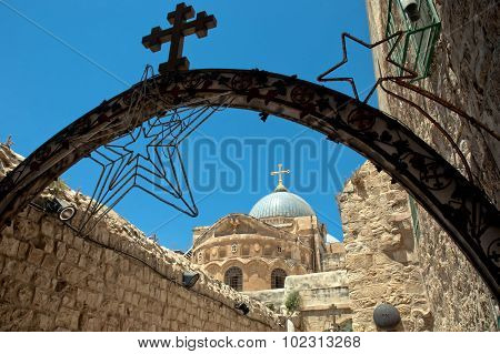 Church Of The Holy Sepulchre From Via Doloros