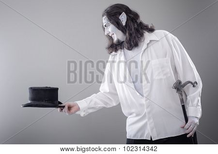 Fantasy Illusionist Performer Bowing