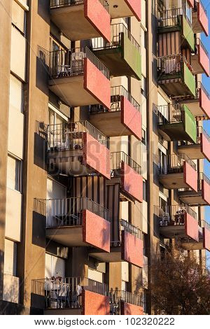 Decorative Balcony In Barcelona