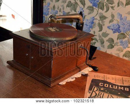 Vintage Retro Phonograph