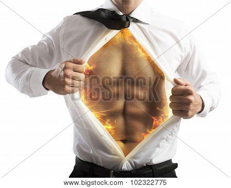 Fire abs businessman