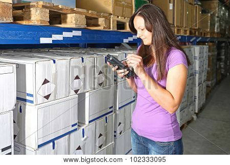 Barcode Scanner Woman
