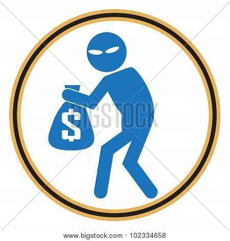 Beware Pickpocket Sign, Thief Icon