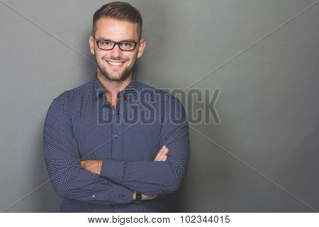 Portrait Of A Smart Young Man
