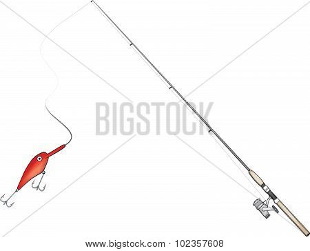 Fishing Rod Vector Illustration