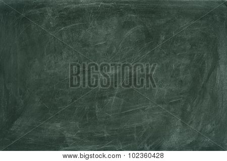 Scratched Greenboard Copy Space. High Resolution Background.