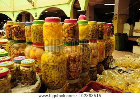 Vegetable and wet market. Siti Khadijah Market in in Kota Bharu, Kelantan, Malaysia, Asia