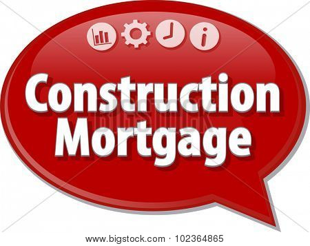 Blank business strategy concept infographic diagram illustration Construction Mortgage