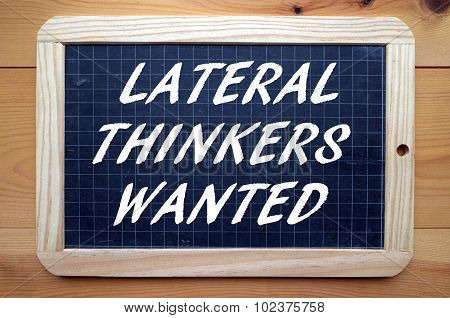 Lateral Thinkers Wanted